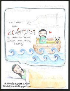 'Adventure Bound' - by Kylie Fowler AKA: Blissful Pumpkin  http://blissfulpumpkin.blogspot.com.au
