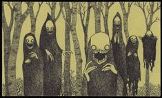 John Kenn: monster drawings drawn on post it notes…I was as excited to see these as these guys were :D Creepy Drawings, Creepy Art, Scary, Art Drawings, Arte Post It, Post It Art, Arte Horror, Horror Art, Monster Illustration