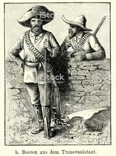 Essentialisms, Century South Africa - Boers from the Transvaal - Illustration, South Africa, 19th Century, Illustration, Art, Art Background, Kunst, Illustrations, Performing Arts, Art Education Resources