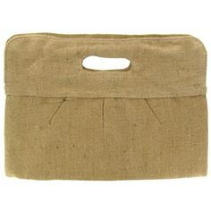 Dress up this jute clutch with jewels or painted designs, or go with the natural look and leave it as is.