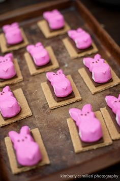 Easter Recipes: Peeps Smores. Finally a way to make use of Peeps!