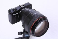 Canon EOS M with Lens Adapter