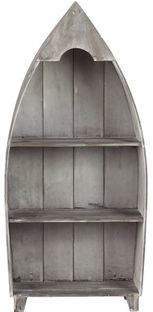 HOME DECOR – COASTAL STYLE – With a boat silhouette and distressed finish, this charming shelf adds nautical appeal to your reading nook or displays decor with coastal style in the dinin. Rustic Style, Rustic Decor, Farmhouse Decor, Boat Silhouette, Boat Shelf, Deco Marine, Aging Wood, Display Shelves, Display Case