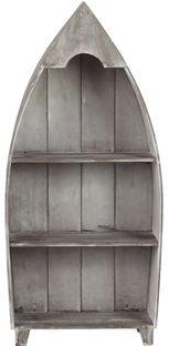 Rustic Wooden Boat Shelf via lakeviewcabindecor.com