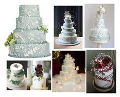 """""""Winter wedding cakes"""" by weddingdesignchic-com ❤ liked on Polyvore featuring rustic, women's clothing, women, female, woman, misses, juniors, weddings, winterwedding and cakes"""