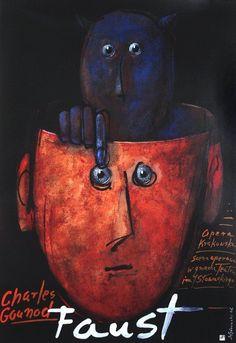 Faust Original Polish opera poster by Mieczyslaw Gorowski