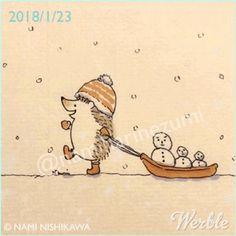 1391 雪だるま 2 snowman 2