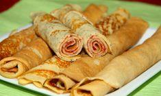 Cum să faci clătite de post cu dulceață. Cea mai simplă și delicioasă rețetă - IMPACT Romanian Desserts, Vegan Recipes, Vegan Food, Sausage, Food And Drink, Meat, Cooking, Puddings, Food And Drinks