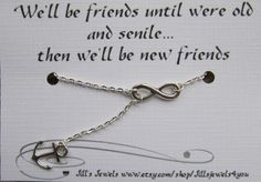 Infinity and Anchor Charm Necklace and Funny by JillsJewels4You, $14.95
