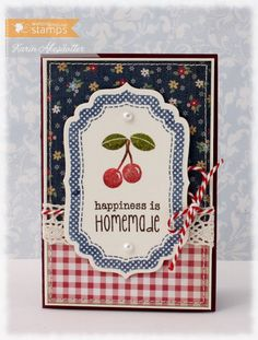 Handmade Cherry card...