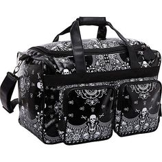 Loungefly Black Bandana Sugar Skull Gym Travel Bag Overnight Duffle Luggage | eBay
