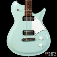 Sonic Blue Fano RB6 available at distinctiveguitar.com.