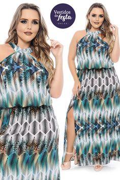 ce52096fc Vestido Longo Plus Size Hilda - Coleção Vestidos de Festa Plus Size -  @daluzplussize Vestido