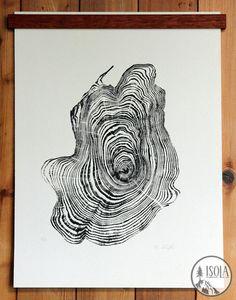 Cedar Tree Ring Print #5