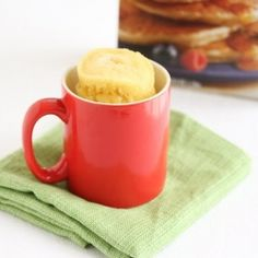 Blueberry Bisquick Mug Cake. Fluffy cake using Bisquick and ready in five minutes.