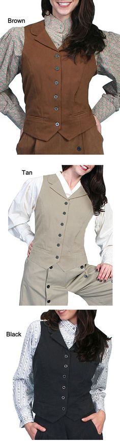 Scully Rangewear Brushed Twill Vest   Wild West Mercantile