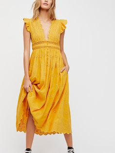 Peach Pie Midi Dress from Free People!
