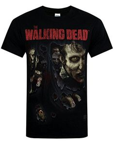 Official Walking Dead Zombies Ripped Mens T-Shirt (S) @ niftywarehouse.com