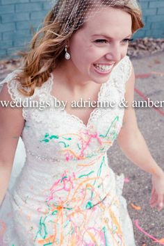 Royal Oak Wedding Photography-Weddings by Adrienne & Amber  #TrashTheDress #PureMichigan #Photography #Paint #Outdoors