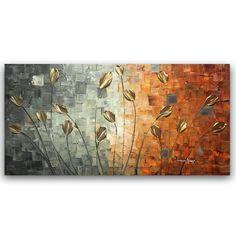 ORIGINAL Flowers Abstract Painting Landscape Art by ModernHouseArt