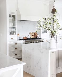 """356 Likes, 5 Comments - E. INTERIORS • Interior Design (@einteriors.design) on Instagram: """"I'm loving this kitchen, especially the cabinet color! What do you think? Such a pretty kitchen to…"""""""