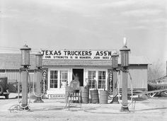 Vintage Truck Stop - I can see a few 'dust bowl' family's stop on the way west, looking for a better life...