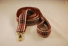 Handwoven Inkle Dog Pet Lead Leash by martelvonc on Etsy