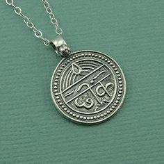 Good Health Sanskrit Necklace - sterling silver sanskrit pendant jewelry - yoga jewelry