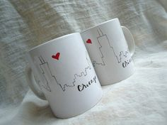 Chicago Skyline Mug by AQuartzyLife on Etsy Sharpie Projects, Sharpie Crafts, Crafty Projects, Projects To Try, Sharpie Mugs, Xmas Gifts, Diy Gifts, Handmade Gifts, Color Me Mine