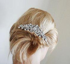 Hair comb, wedding hair combs, bridal hair combs, bridal hair accessories, silver hair comb, Svarovski hair comb, hair combs for wedding