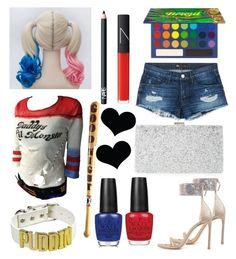 """Harley Quinn Custome"" by rina-shmail on Polyvore featuring 3x1, Stuart Weitzman, NARS Cosmetics, Sondra Roberts and OPI"