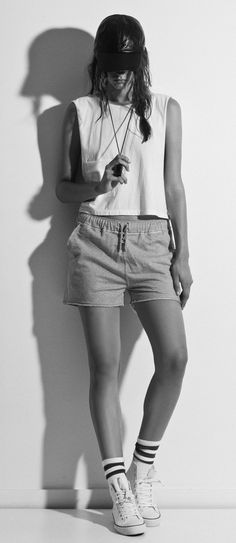 #026 LEATHER CAP #017 MESH CROPPED TANK #021 GYM SHORTS     http://www.thisisfirstbase.com/Tanks/MESH-CROPPED-TANK-WHITE