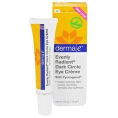 derma e Evenly Radiant Dark Circle Eye Crme Moisturizing Eye Treatment 05 oz -- See this great product.