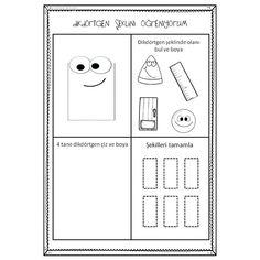 Online Tests, Worksheets, Preschool, Diagram, Shapes, Activities, Math, Making Tools, Geometric Fashion
