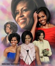 Faces of beauty ~ Michelle Obama by Wishum Gregory