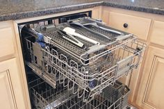 This KitchenAid dishwasher comes with a neat top third rack for spoons, spatulas, and other utensils. Really opens up a ton of space for other things on the bottom two racks.