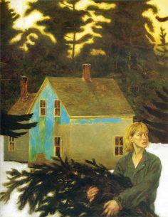 """Jamie Wyeth: """"Black Spruce"""", 1994"""