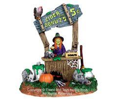 Lemax+33002+CREEPY+CIDER+STAND+Spooky+Town+Figure+Halloween+Decor+Figurine+New+I+
