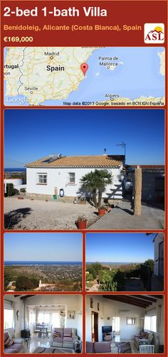 2-bed 1-bath Villa in Benidoleig, Alicante (Costa Blanca), Spain ►€169,000 #PropertyForSaleInSpain