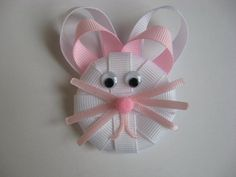 Easter Bunny Clippie by Bettysgirlybowtique on Etsy. $3.50 USD, via Etsy.
