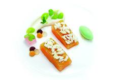 """Salmone alpino d'Austria con aromi asiatici"" dello chef Paul Stradner del Brenners Park Hotel & Spa di Baden Baden in Germania  #lamadia #lamadiatravelfood #food"