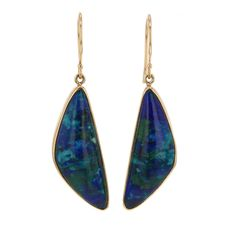 Malachite Azurite and Chrysocolla Earrings