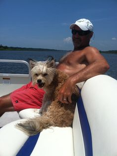 Me and my daddy on the boat