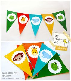 KIT CUMPLEAÑOS INFANTILES - Animales del Zoo - xn--lorenzadiseo-... Jungle Theme Birthday, Safari Theme Party, Barnyard Party, Jungle Party, Animal Birthday, 1st Birthday Parties, Party Kit, Baby Scrapbook, Animal Party
