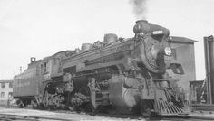 5185 Fredericton, New Brunswick November 1950 Bud Laws Collection Electric Locomotive, Steam Locomotive, New York Central, Rolling Stock, New Brunswick, Trains, Canada, Nyc, History