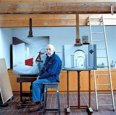 Richard Hamilton in his Oxfordshire studio 2003