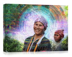 Hmong  Canvas Print Visionary Art Psychedelic by XNihiloCreative