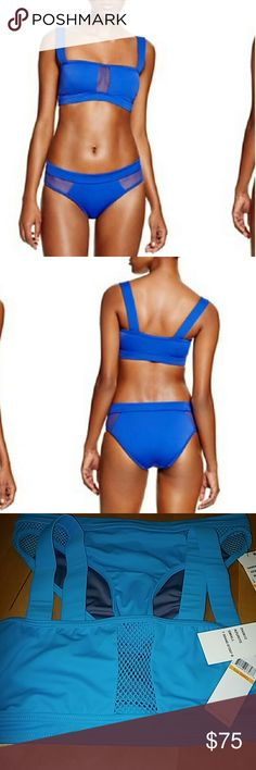 DKNY DKNY Swimming Suit 2 pieces, New With Tags, Color Aqua Blue, Size  S. The pieces are not sold separately. DKNY Swim Bikinis