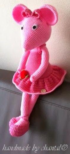 made by home: haakpatroon angelina de ballerina muis