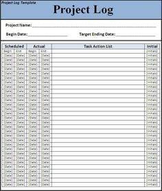 A project log template is an operative project management tool used for tracking project tasks. Generally a project log is used for construction projects and by field surveyors. Certificate Templates, Templates Printable Free, Resume Templates, Word Templates, Free Printables, Word Shortcut Keys, Letter After Interview, Action List, Log Projects